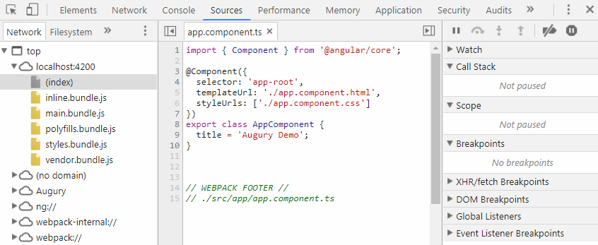 Source code for the chosen component