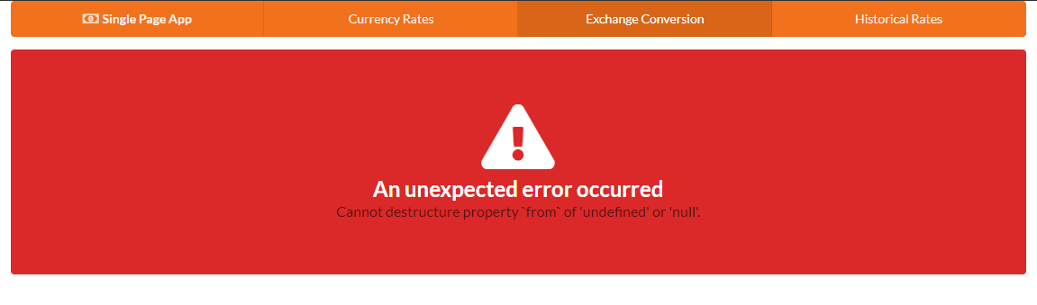 Exchange error