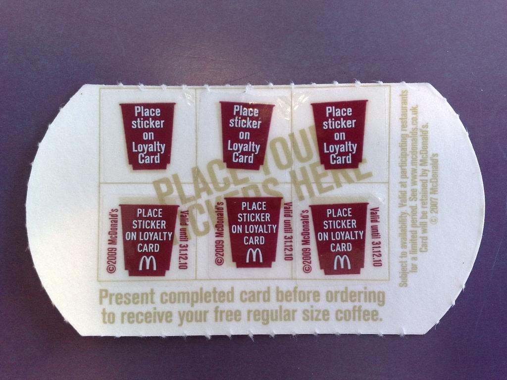 A loyalty card