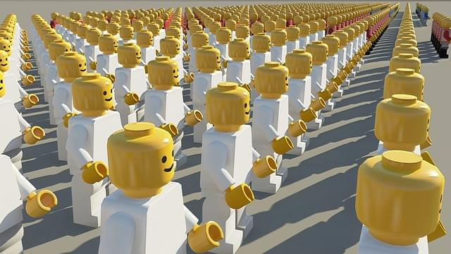 Lego pieces representing people