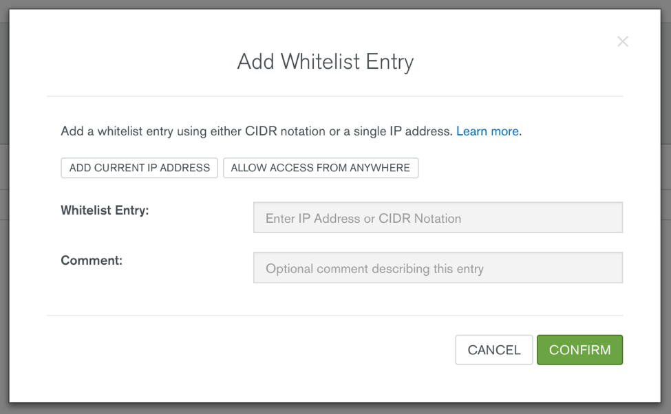 Add whitelist entry