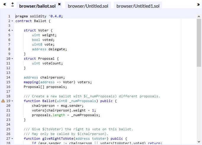 Solidity Code Editor