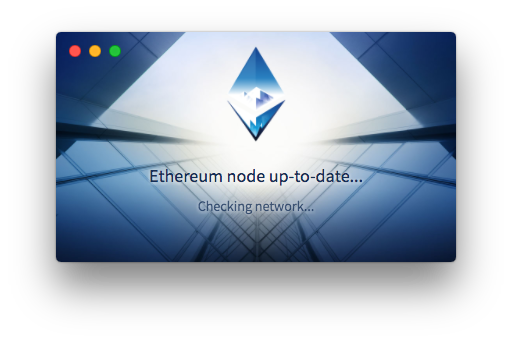 Checking for contact with the Ethereum network