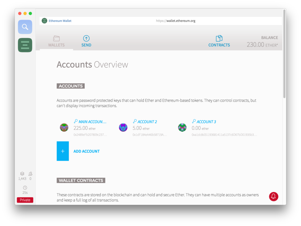 Account overview: transaction