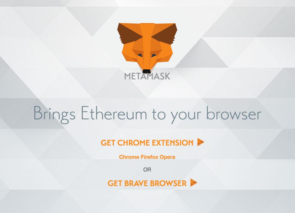 MetaMask installation screen