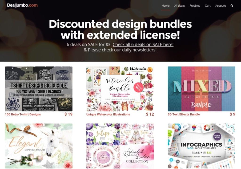 DealJumbo - Discounted Design Bundles