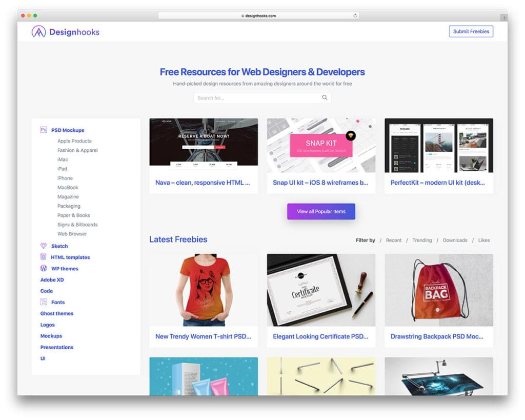 Designhooks — Free Resources for Web Designers & Developers