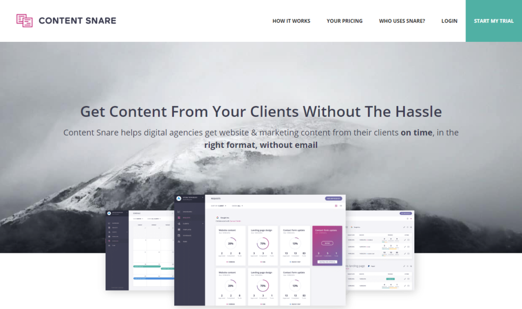 Content Snare — Gather Content from Your Clients