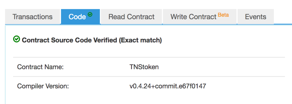 The token is now marked as trusted