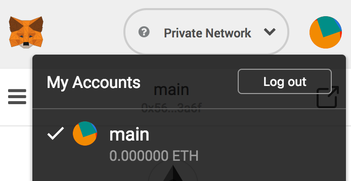 MetaMask Log out