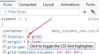 The grid icon