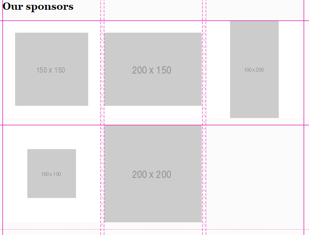 The sponsors block layout using auto-fill instead of media queries