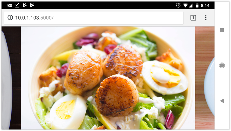 How scroll-snap-align: center aligns images within a scroll container, in Chrome 70 for Android