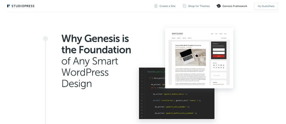 Le site Web de StudioPress