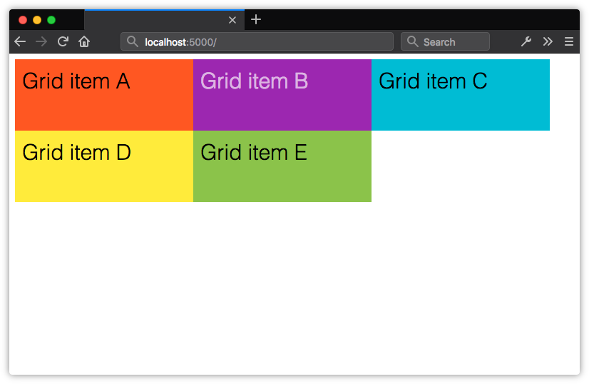 Creating an explicit grid with grid-template-columns and grid-template-rows