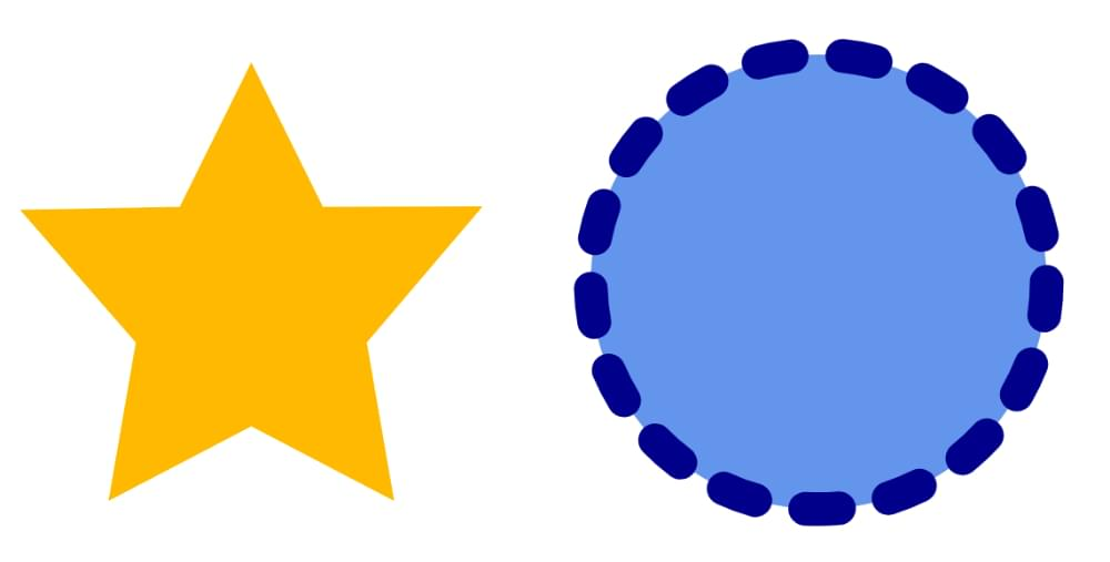 A simple circle and star SVG image