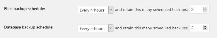 Setting your WordPress backup schedule