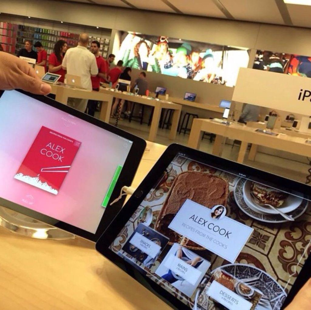 The Cook app on-screen