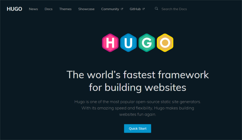 Hugo - static site generators