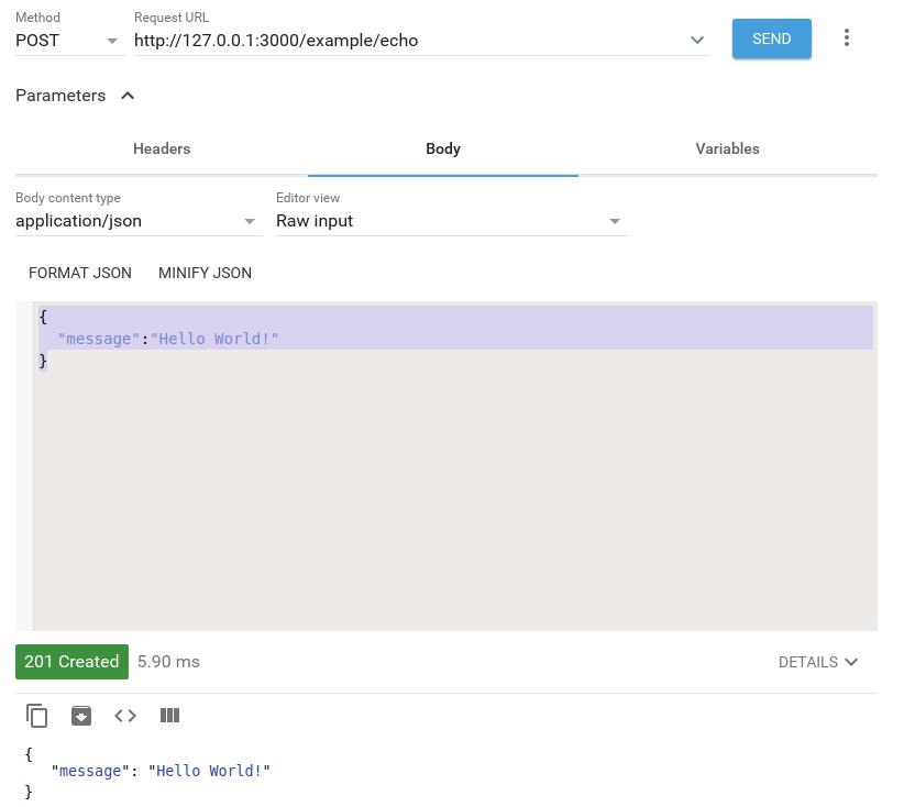 Nest.js POST response
