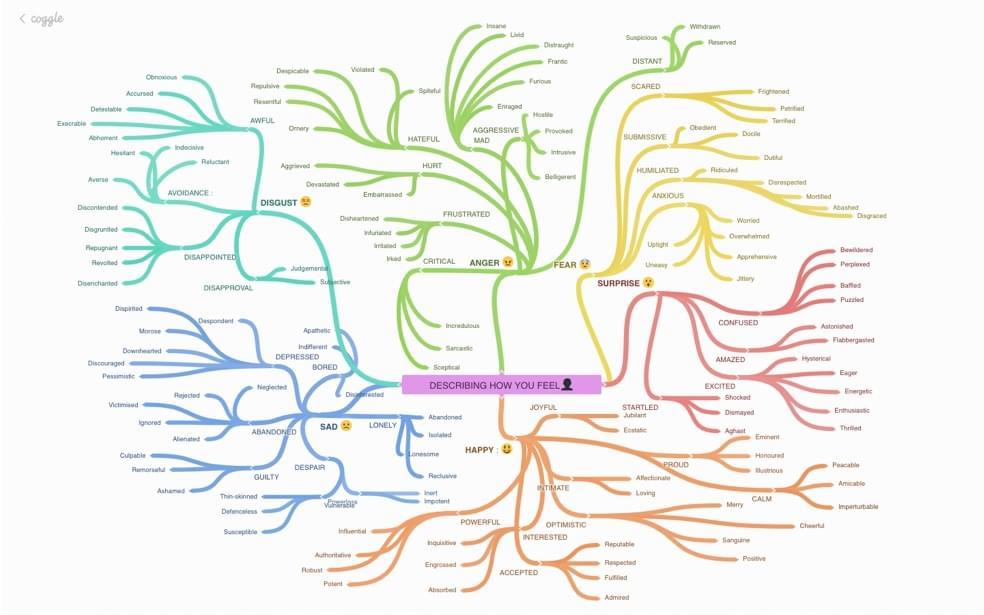a Coggle mind map