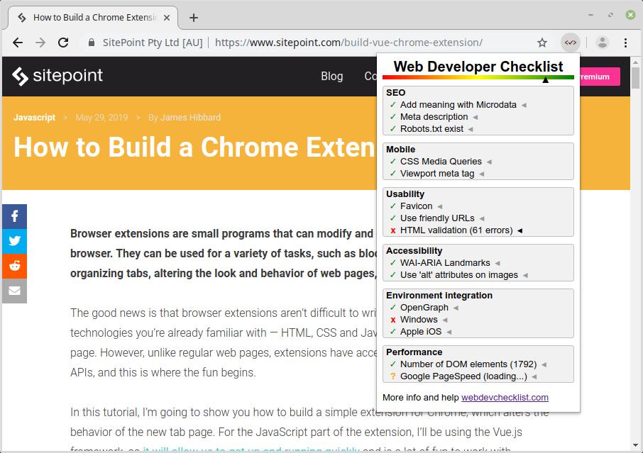 Web Developer Checklist