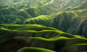 Image of green mountains