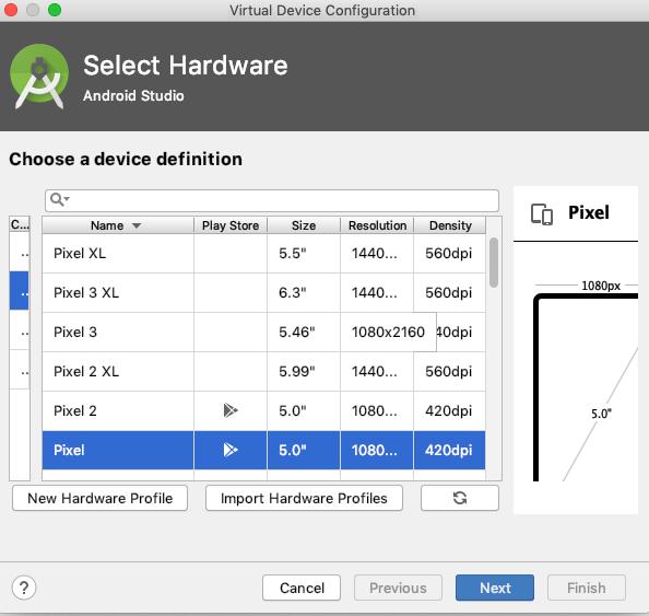 select virtual device