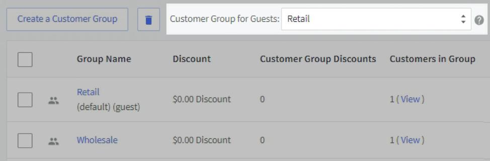 customer groups