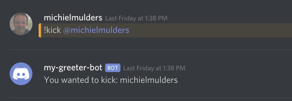 Kick user