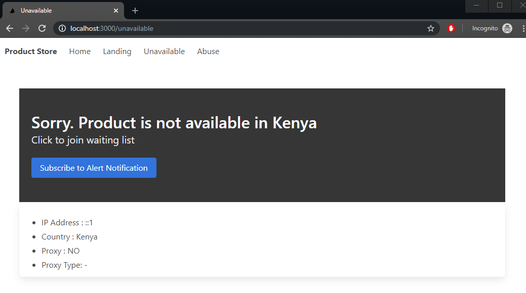 unavailable page
