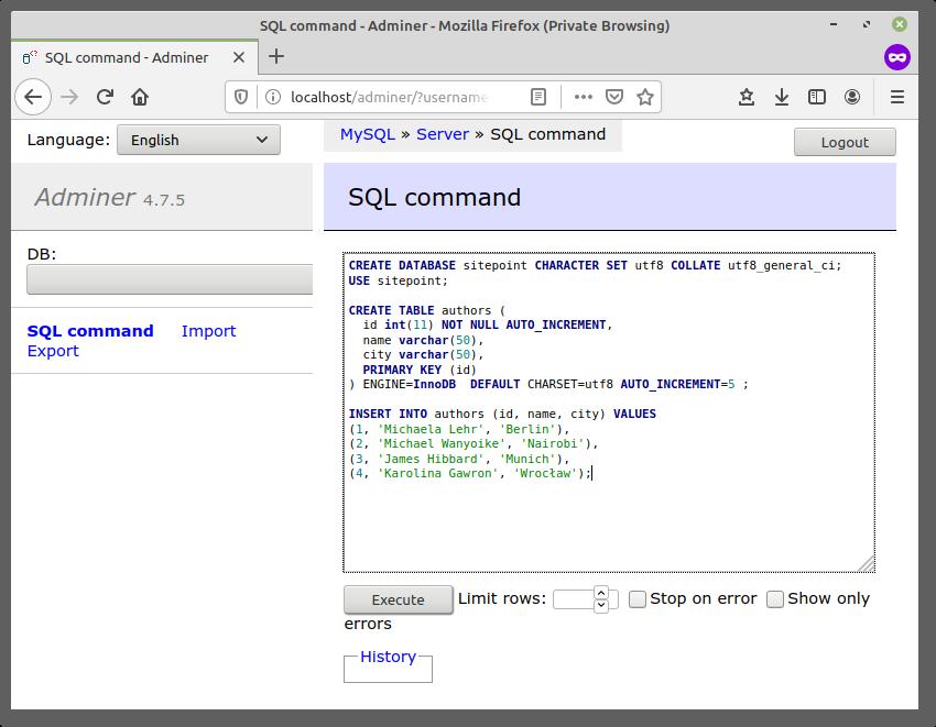 Using MySQL with Node.js & the mysql JavaScript Client
