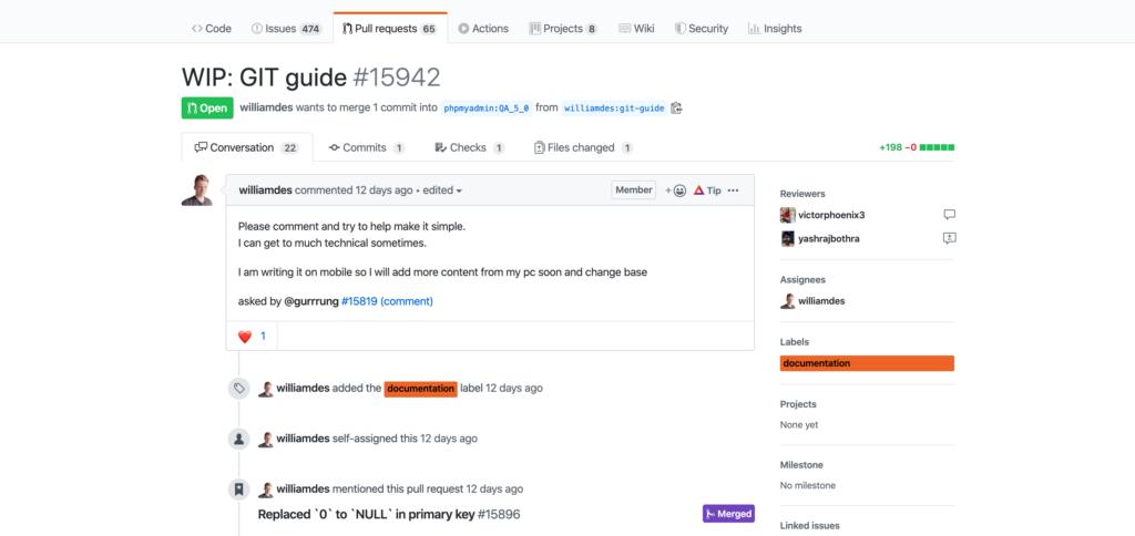 A conversation on GitHub