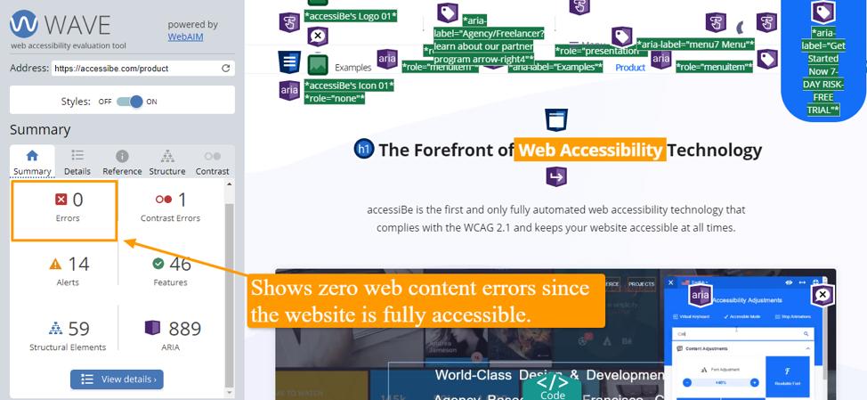 Zero web content errors