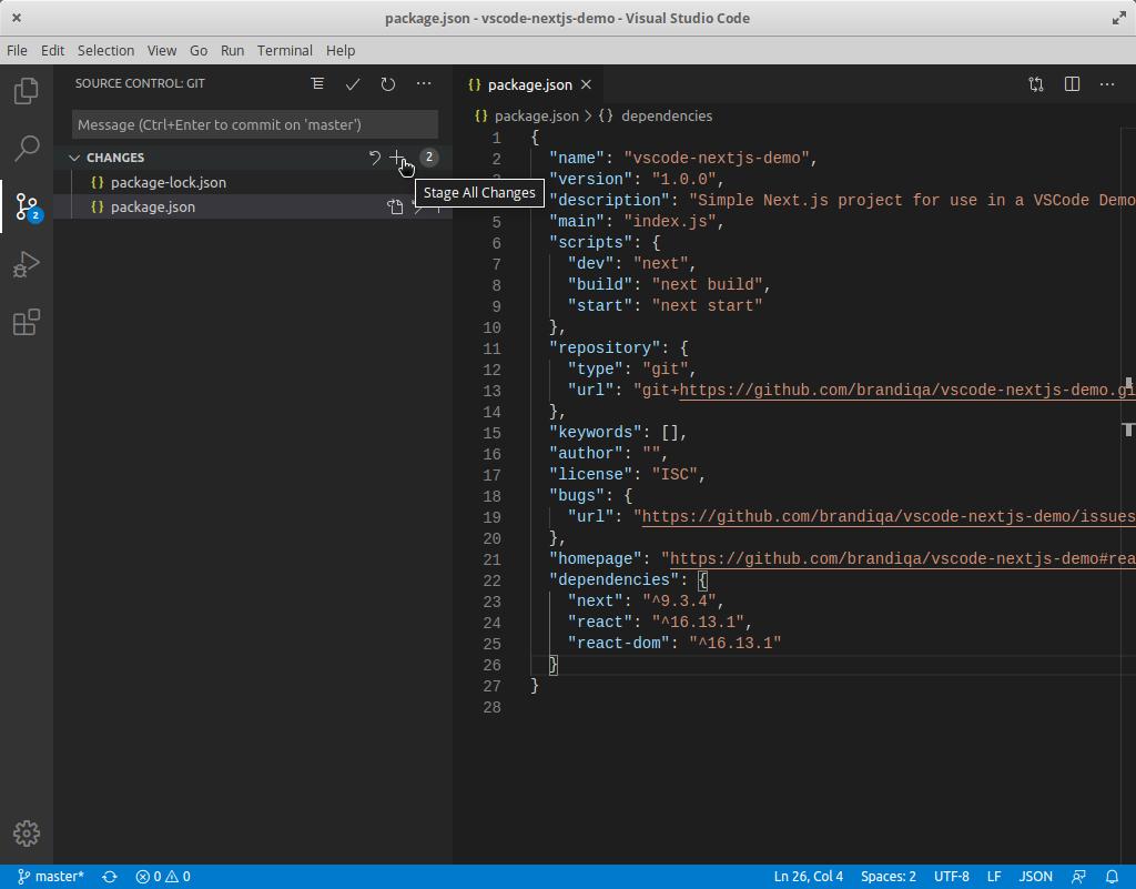 VS Code source control