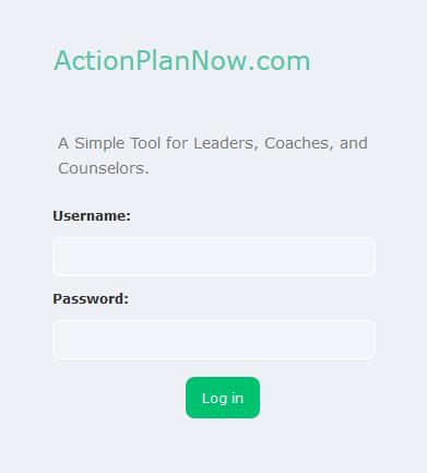 New login layout