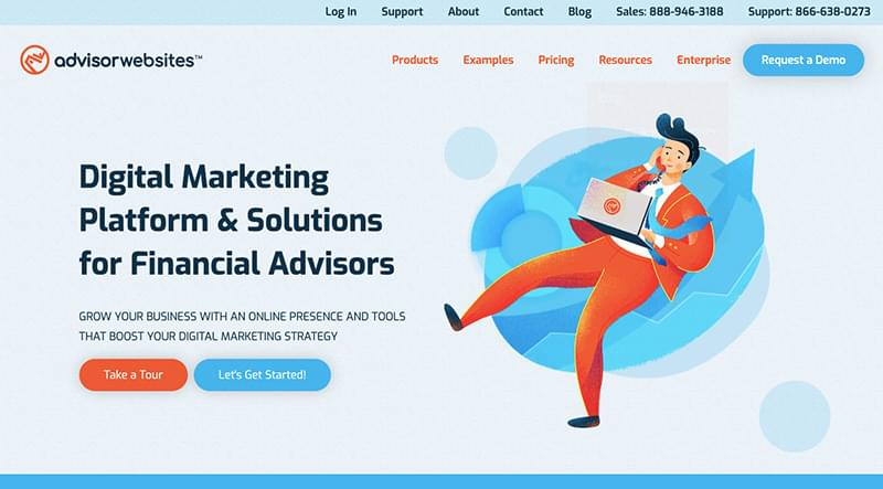 The AdvisorWebsites site