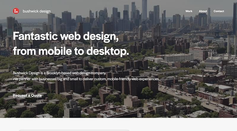 The Bushwick Design website