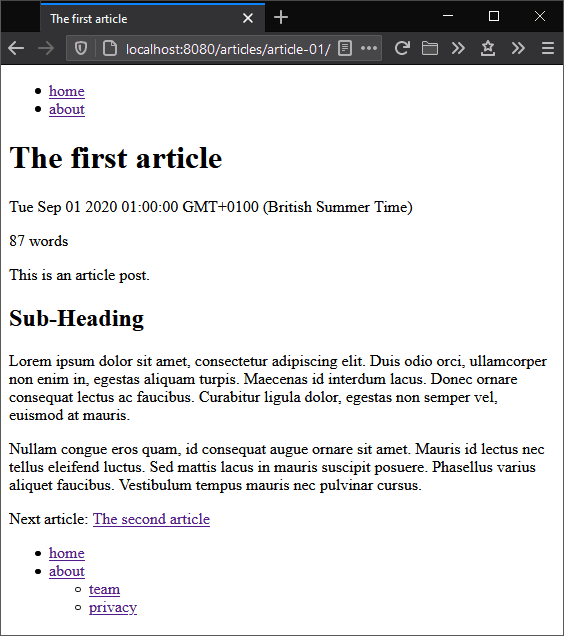 11ty blog post