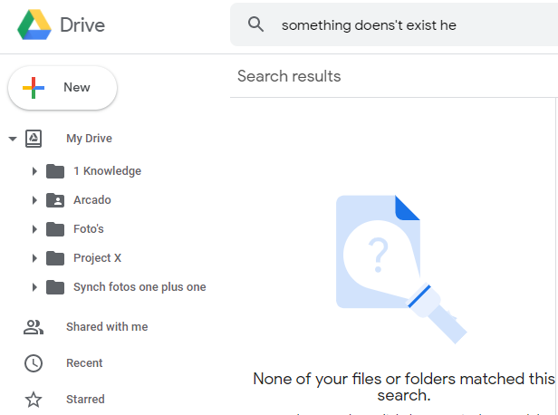 Elements in Google Drive