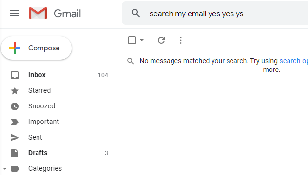 The Gmail interface