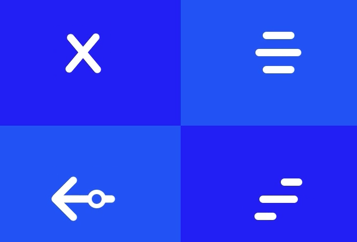 Hamburger menu states by Rifayet Uday