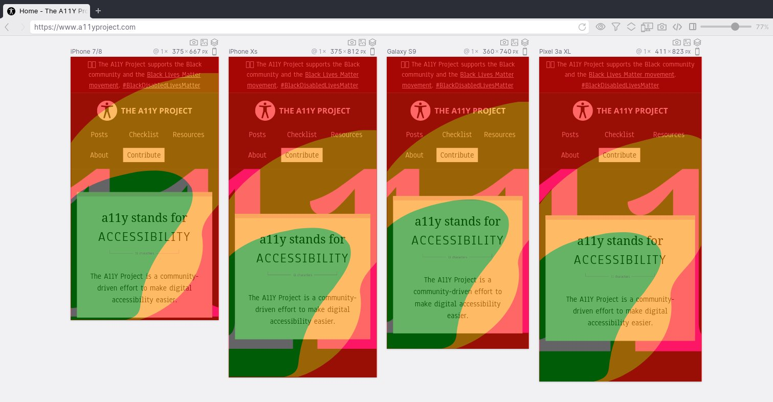 Showing a layout on multiple small devices