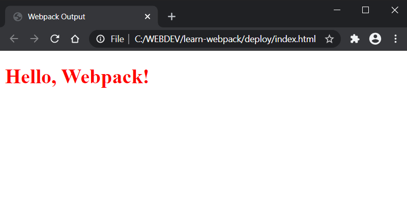 Webpack Browser Message With Style Applied
