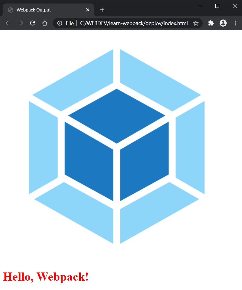 Webpack Image Component Displayed