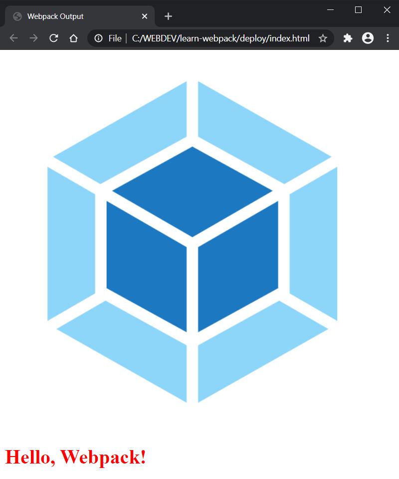 Webpack Image Component Displayed
