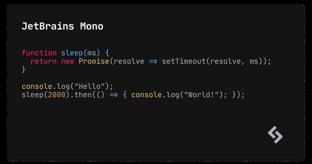 JetBrains Mono example