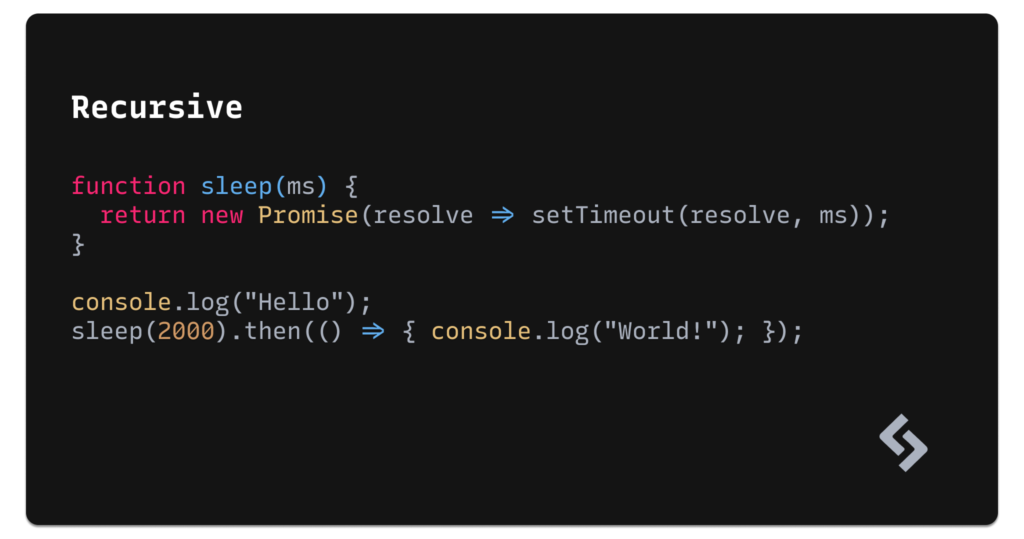 Recursive Mono example