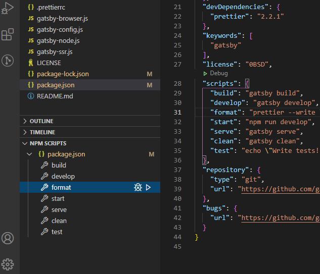 run npm scripts