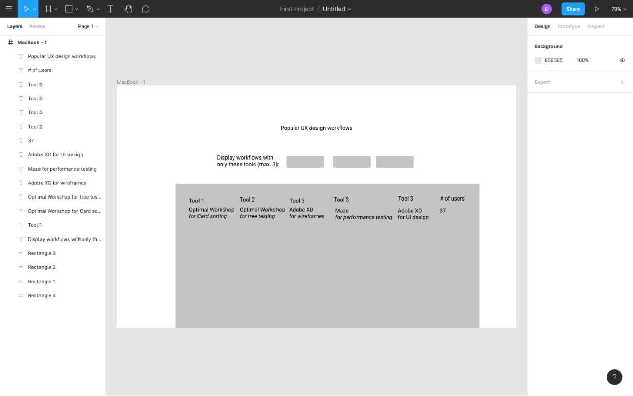 Quick wireframing with Figma